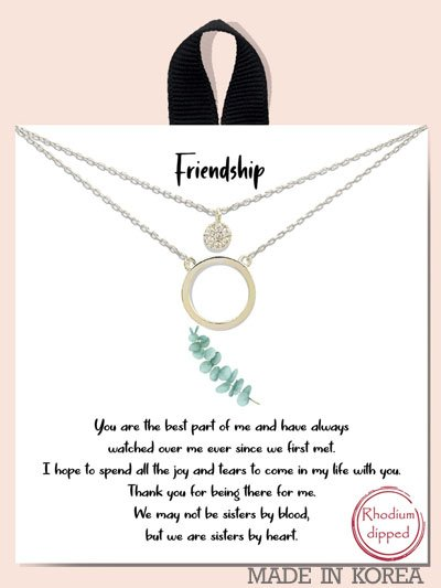 RHCRY FRIENDSHIP / OPEN CIRCLE AND PAVE C UBIC ZIRCONIA DOUB