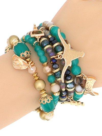 Gold TQ 5 Strand Bracelet