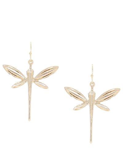 Gold Dragonfly Earrings