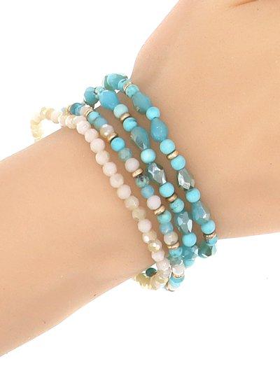 4 Row Stretch Bracelet