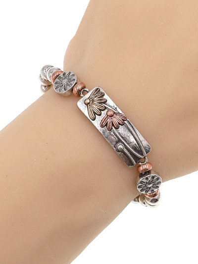 Flower Multi tone Bracelet