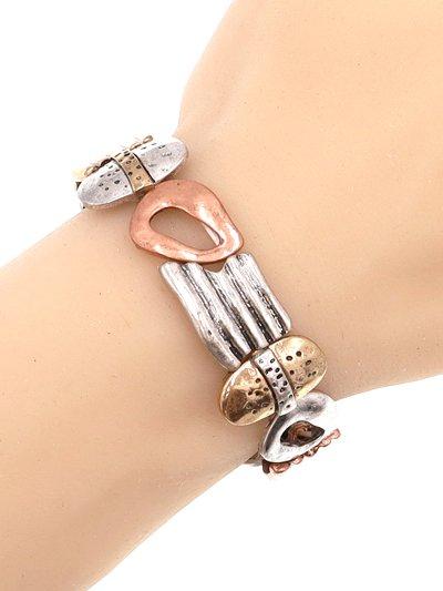 Organic Forms Multi Tone Metal Bracelet