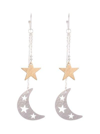 Drop Crescent & Starfish Hook Earrings
