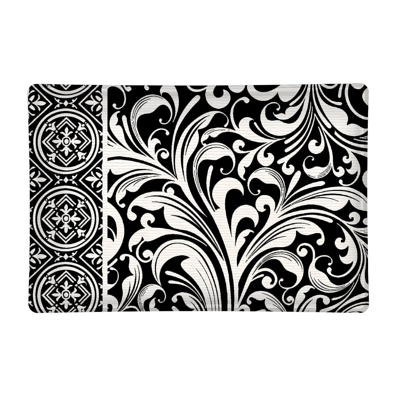 Black Florentine Rectangular Glass Soap Dish