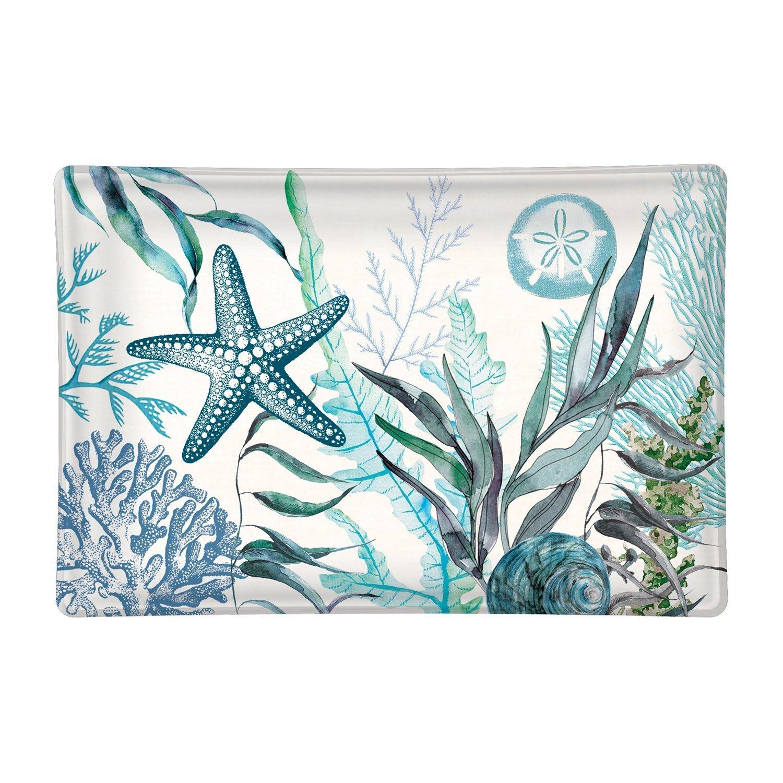 Ocean Tide Rectangular Glass Soap Dish