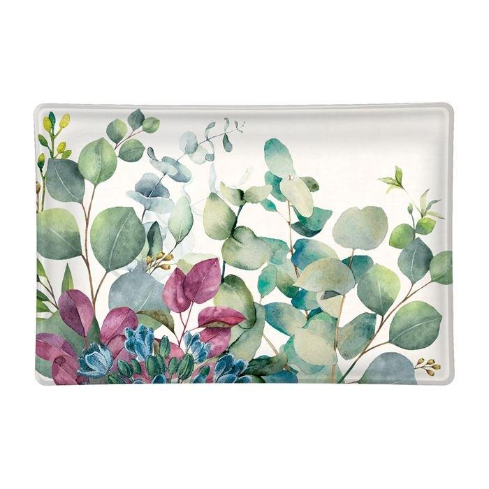 Eucalyptus & Mint Rectangular Glass Soap Dish
