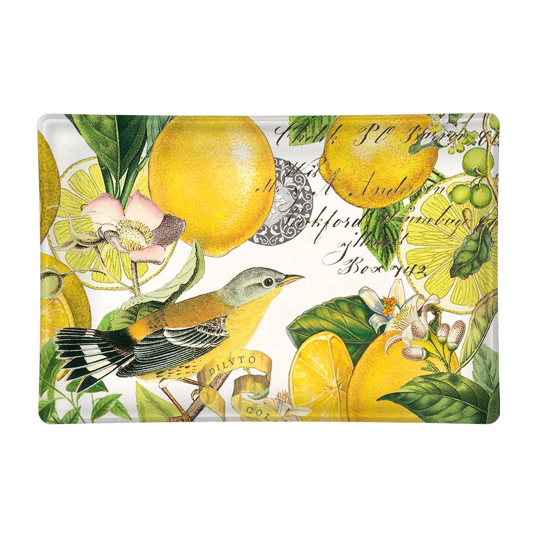 Lemon Basil Rectangular Glass Soap Dish