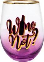Wine Not Stemless Glass