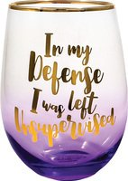 In My Defense Stemless Glass