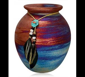 Raku Large Spirit Jar 7
