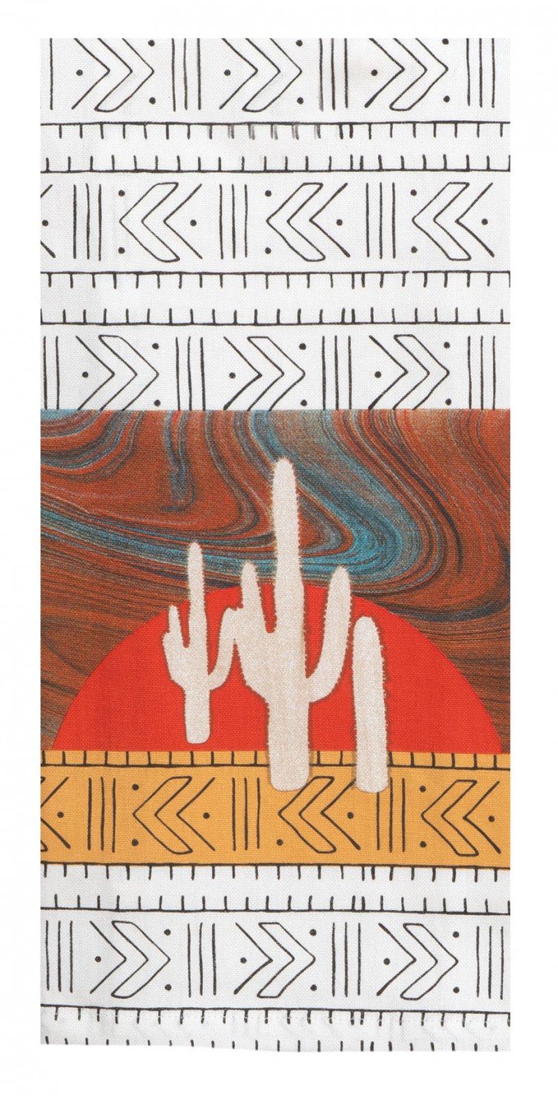 Cactus Sunset Tea towel