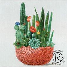 Cactus w/Pot Canvas