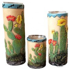 Cactus 3 PC Candle Holder