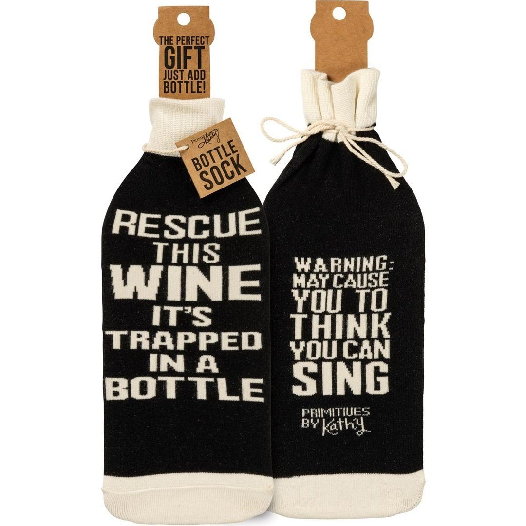 Rescue This Wine Bottle Cover