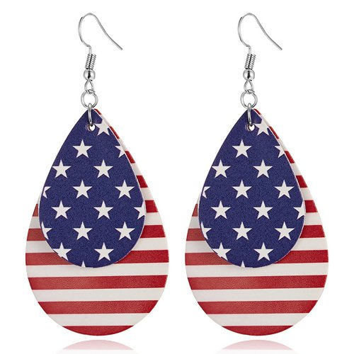 Earrings RED/WH/BLUE