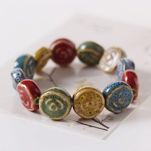 Beaded Ceramic Bracelet