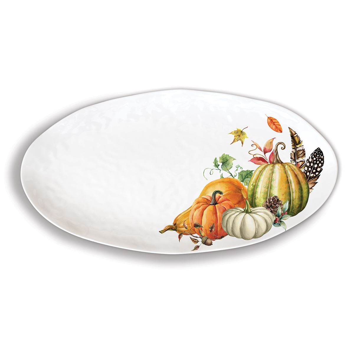 Sweet Pumpkin Melamine Serveware Oval Platter