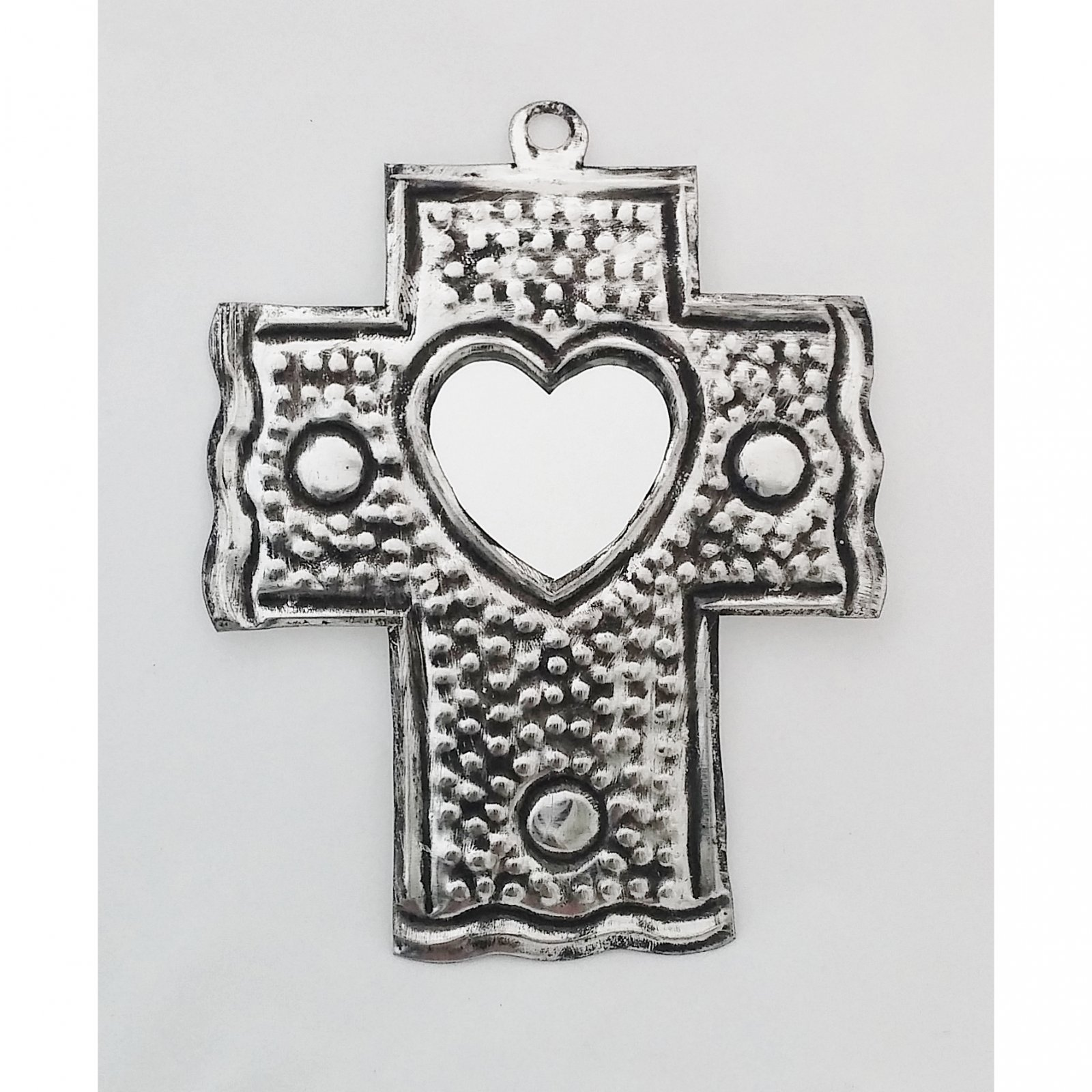 Tin Cross With Mirror