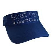 Boat Hair Don't Care Visor Wht
