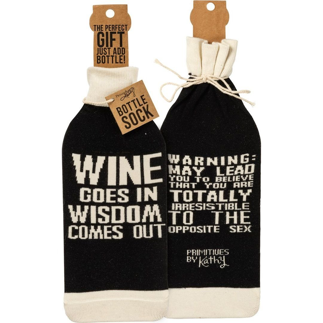 Wine Goes In Bottle Cover