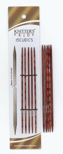 6 Cubics Double Point Knitting Needles by Knitter's Pride