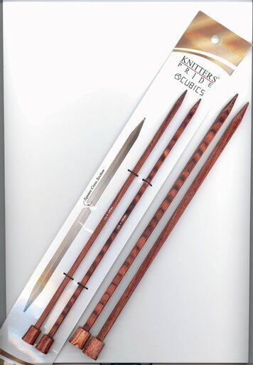 10 Cubics Single Point Knitting Needles by Knitter's Pride