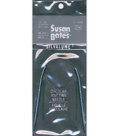 16 Silvalume Circular Knitting Needles by Susan Bates