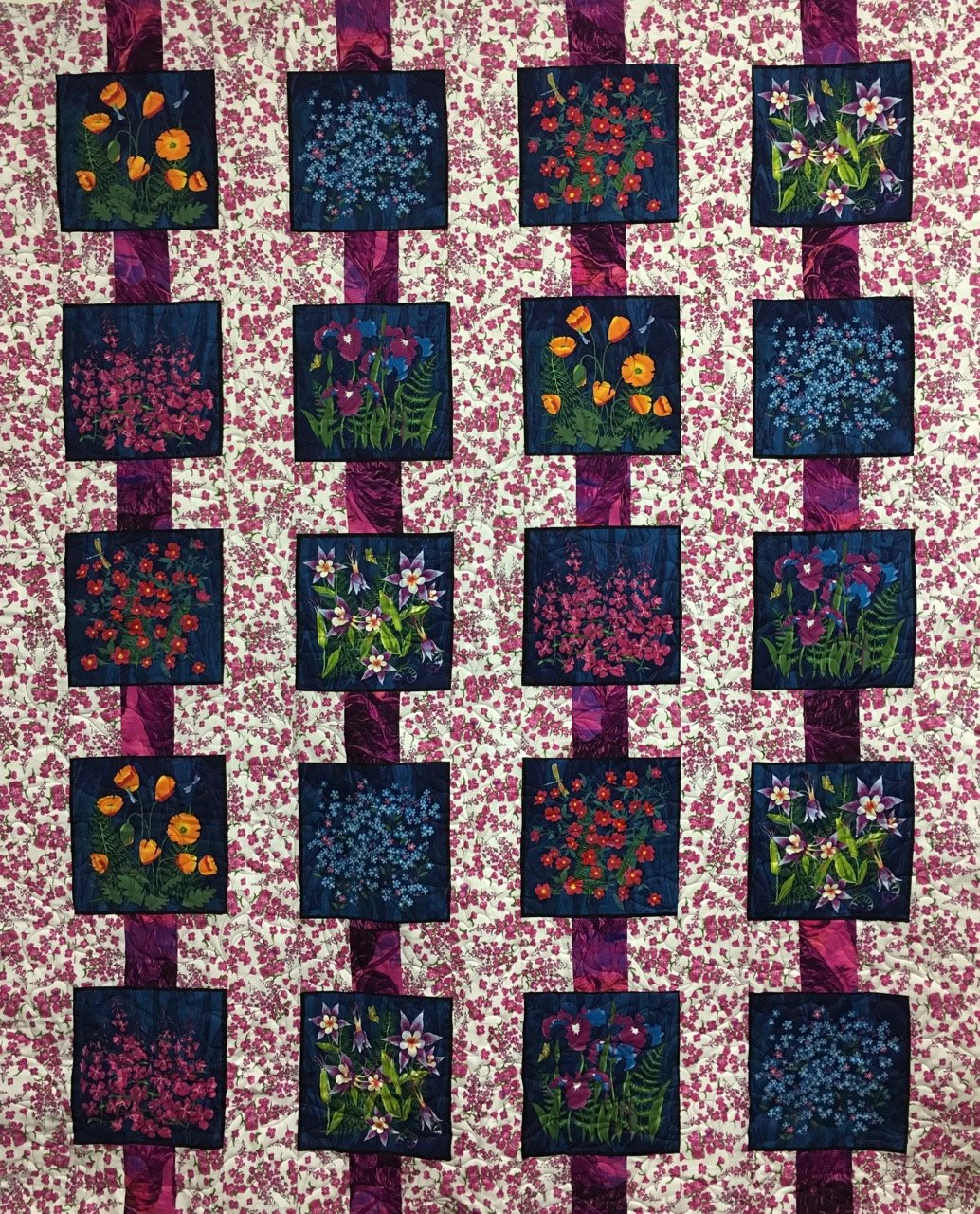 PARALLELED Wildflowers 62x77