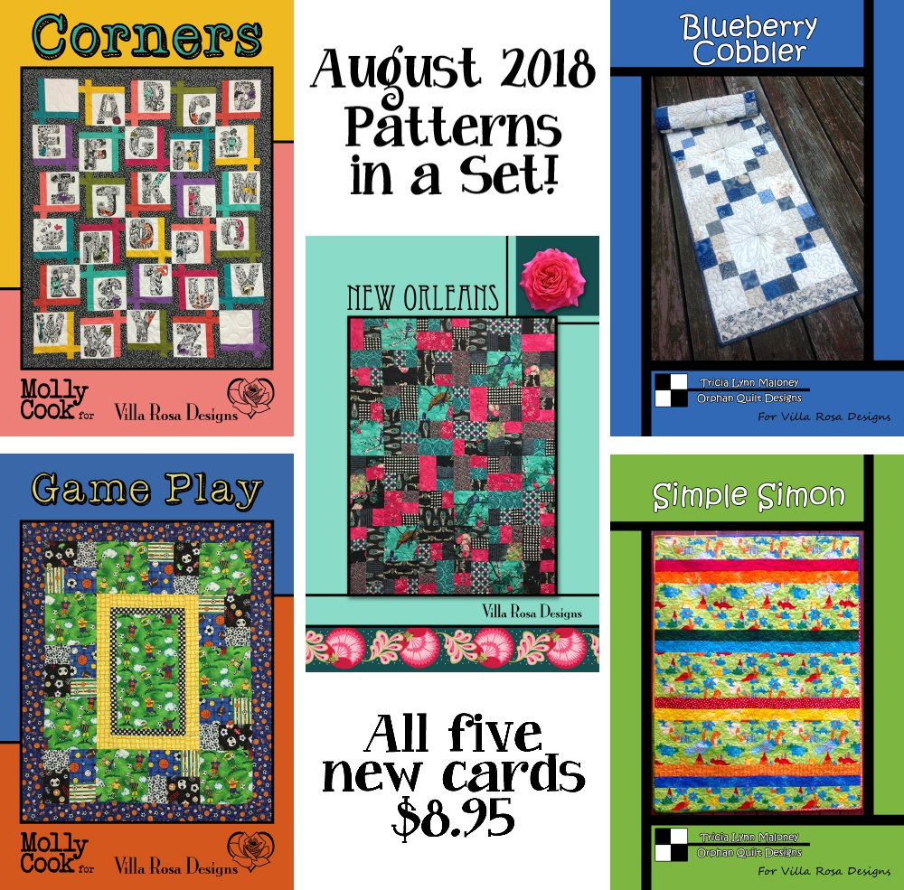 Aug SET of 5 CARDS