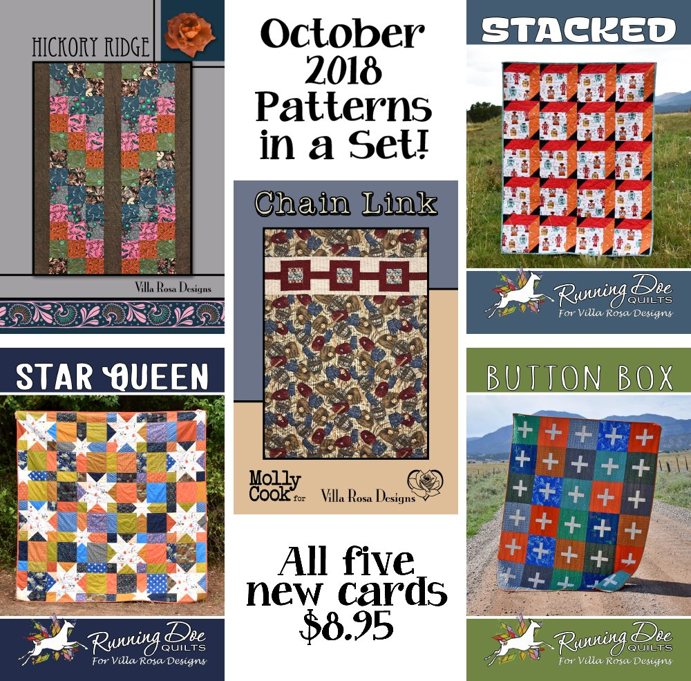 Oct SET of 5 CARDS