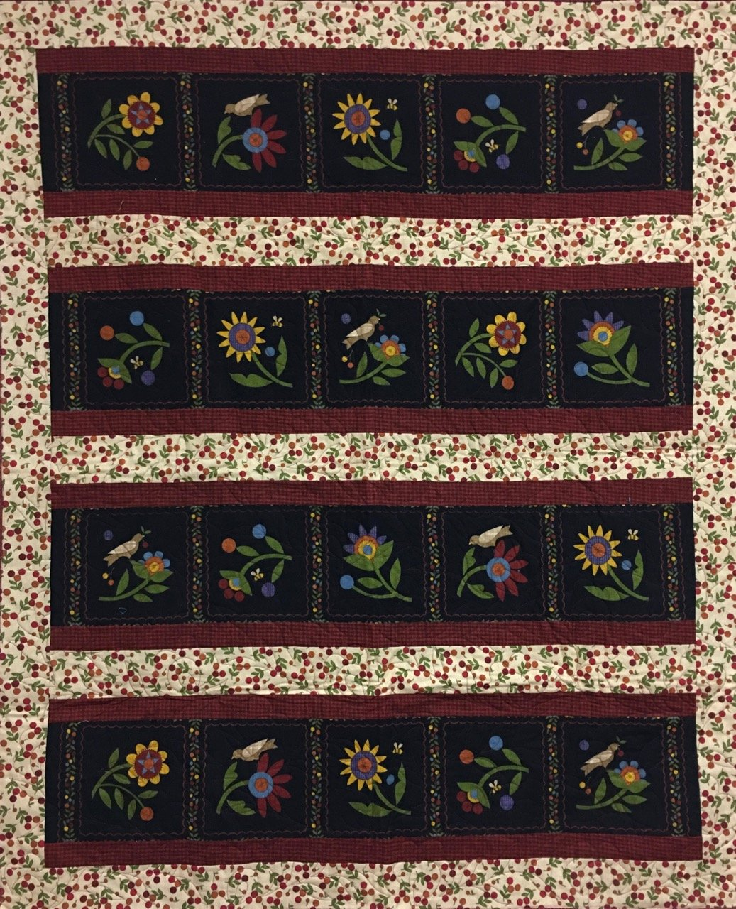 RADIANCE Flannel Flowers  47x60