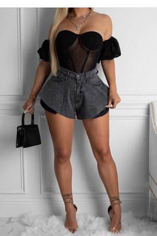 HiWaist Denim Shorts