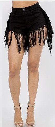 She Fringed Shorts