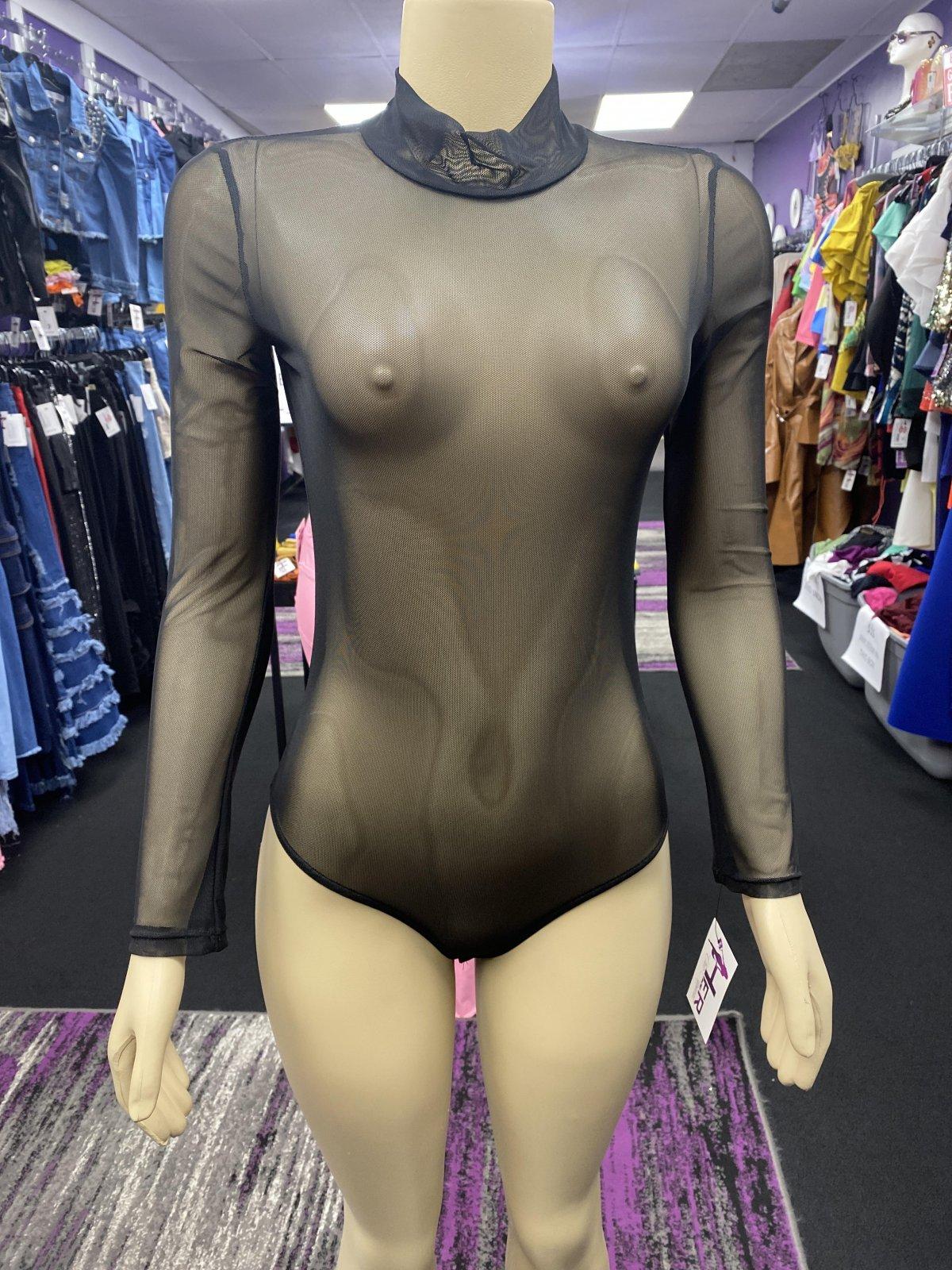 Mesh Bodysuit Curvy