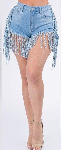 Her Fringy Shorts Curvy