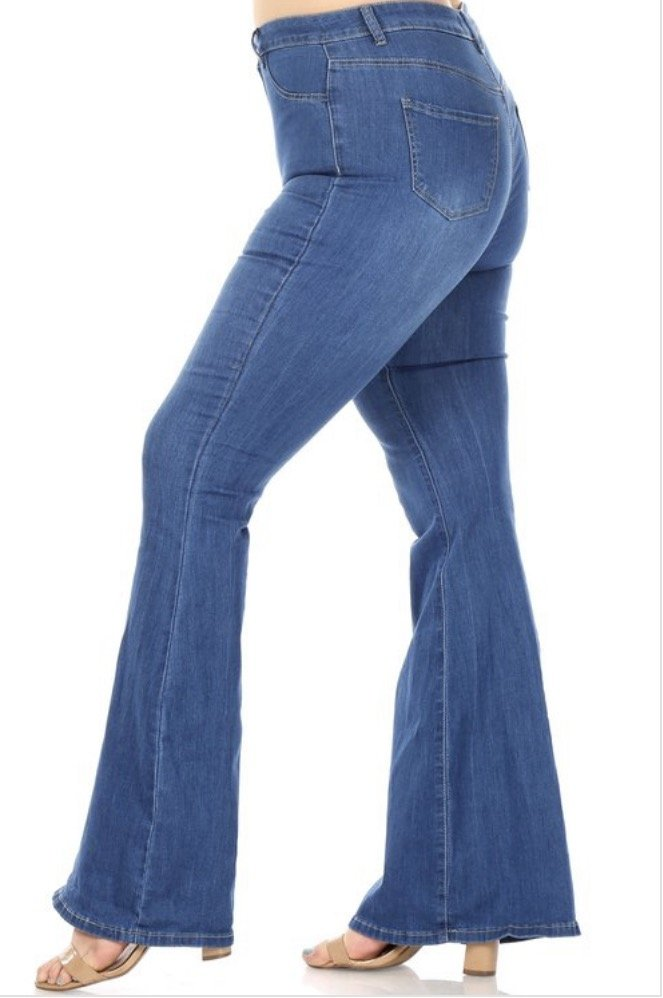 Med Wash Bell Bottom Jean