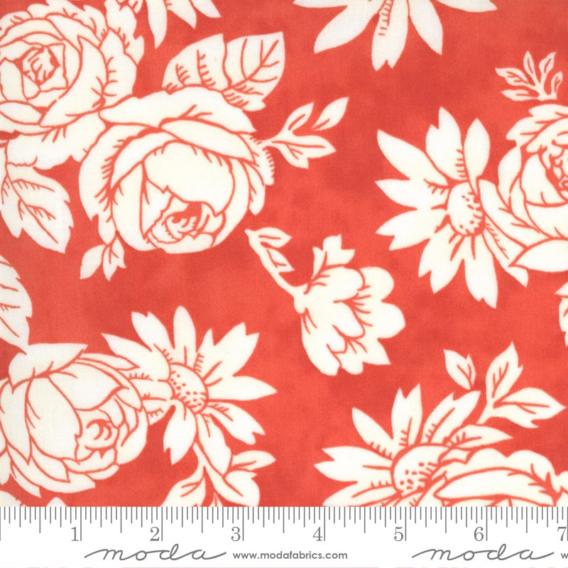 Strawberries and Rhubarb Fabric by Moda SBY