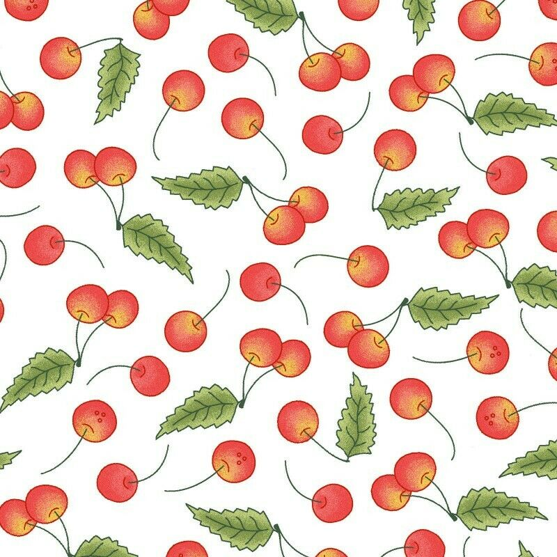 BACK PORCH CELEBRATION CHERRIES FABRIC by Maywood Studio SOLD BY YARD ONLY