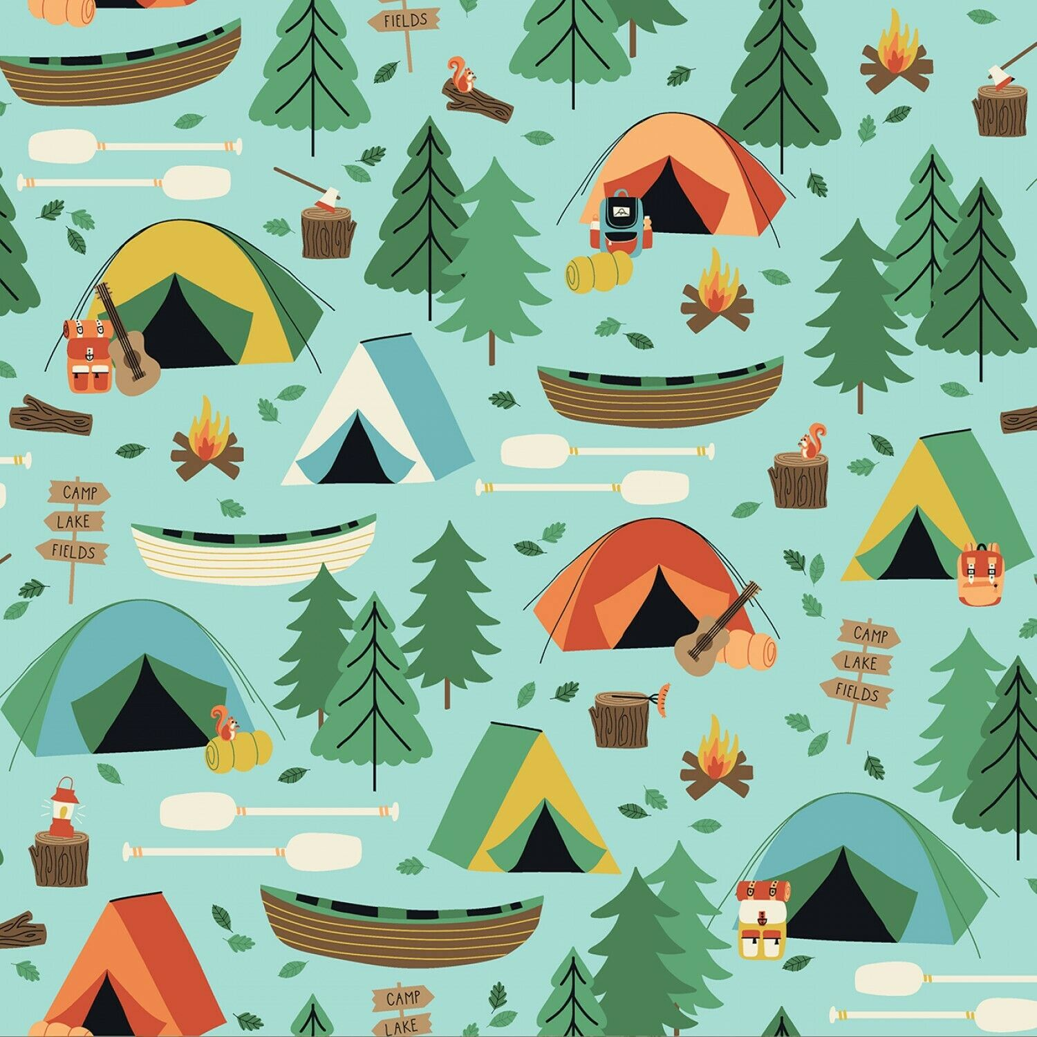 Camping Crew Fabric by RJR Studio Sold by the Yard