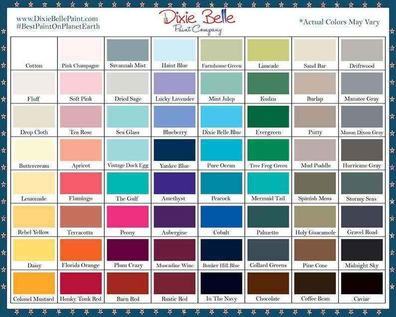 Dixie Belle Mineral Paint 8oz 16oz 32oz 64 Colors SEALED