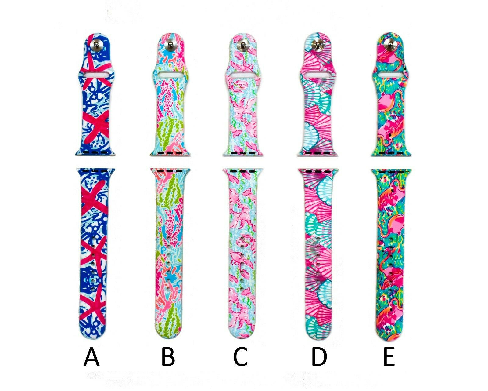 Silicone Watch Band Straps for Aple Watch 38mm & 42mm Series 1, 2, 3, 4 or 5