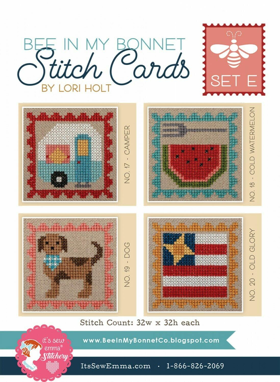 Stitch Cards by Lori Holt Set E, F G, H, I
