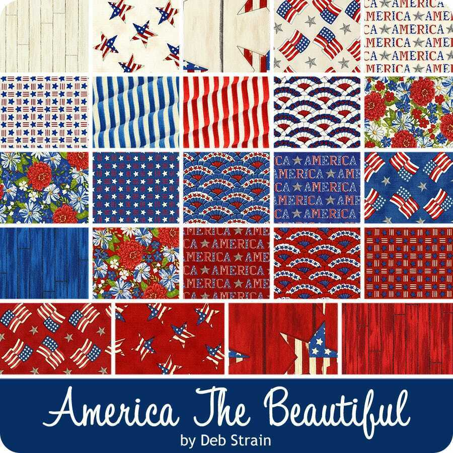 America the Beautiful Fabric Layer Cake 42-10 Squares by Moda