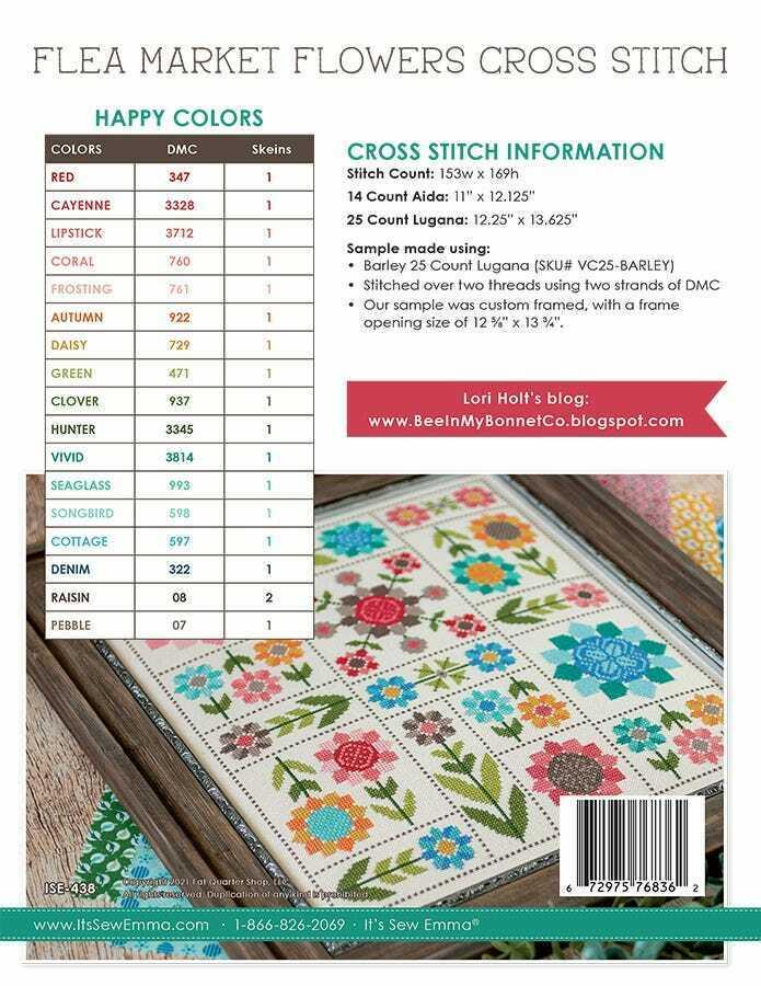 Flea Market Flowers Cross Stitch Pattern by Lori Holt of Bee in my Bonnet