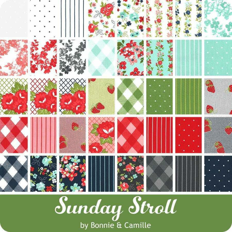 Sunday Stroll F8 Bundle Fabric by Bonnie & Camille for Moda Fabrics 9x22