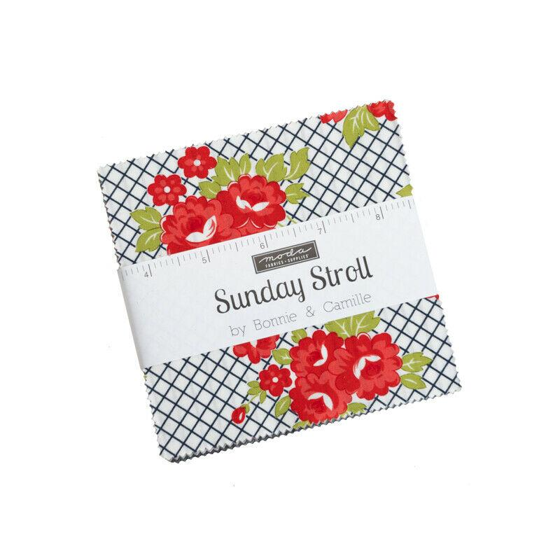 Sunday Stroll Fabric Charm Pack 5 Squares by Bonnie & Camille