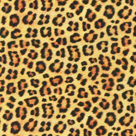 Wild Leopard Skin Digital Print Fabric by Robert Kaufman SBY