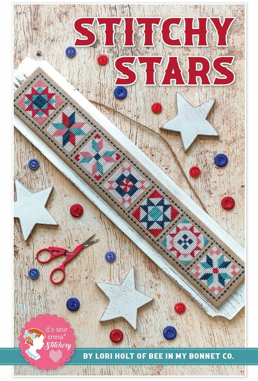 Stitchy Stars Cross Stitch Pattern by Lori Holt of Bee in my Bonnet