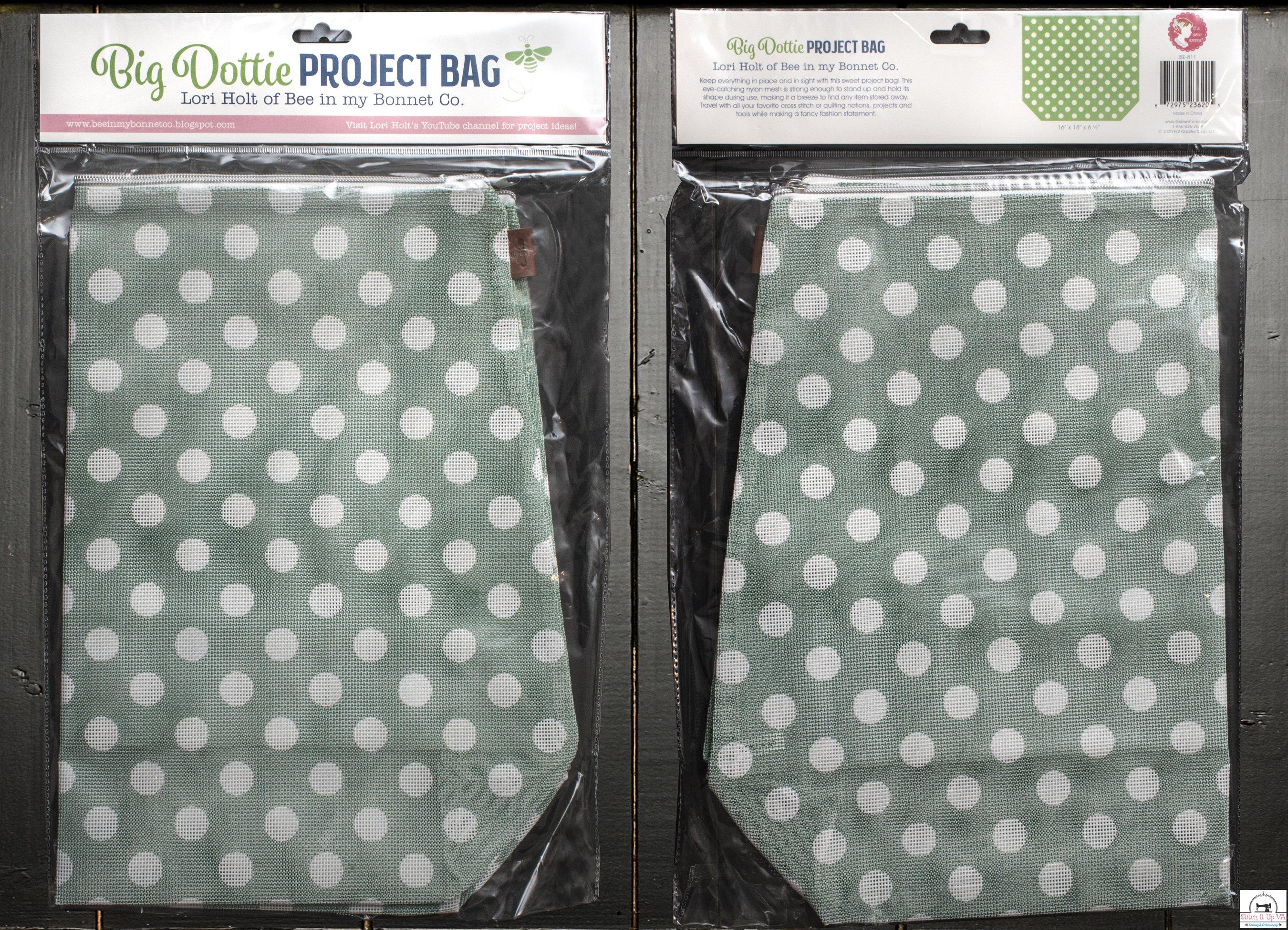 BIG DOTTIE PROJECT BAG by Lori Holt ( Color Green)
