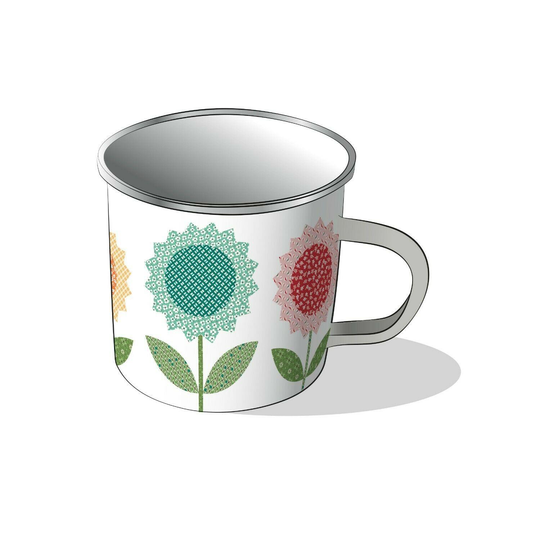 Flea Market Tin Mug by Lori Holt